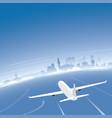 the hague skyline flight destination vector image vector image