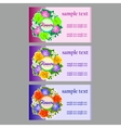 Three flower business cards name cards vector image