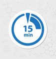 timer flat icon vector image