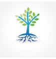 tree with roots from water vector image vector image
