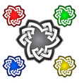 trefoil logo template in celtic knots style vector image vector image