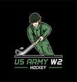 us army world war 2 hockey vector image
