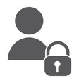 user unlocked glyph icon privacy and safety vector image vector image