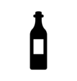 Wine bottle icon Silhouette vector image vector image
