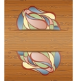 Wood texture with layout vector image vector image