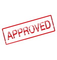 approved rubber stamp red vector image