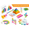 flat 3d isometric infographic for your business vector image
