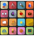 16 flat icons for school vector image