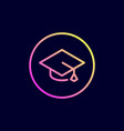 academic hat graduation cap icon vector image vector image