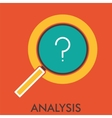 Analysis Research magnifier Line icon with flat vector image