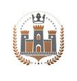ancient castle emblem heraldic coat of arms vector image