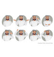 arab man character set of emotions vector image
