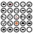 Badges coal industry vector image vector image