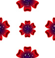 Beautiful rad flower Seamless floral pattern vector image