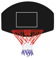 Black basketball basket vector image vector image