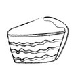 cake sliced dessert vector image