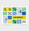 car service infographic template vector image vector image
