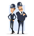 cartoon british policeman boy character set vector image vector image