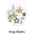 collection of snowflakes stars christmas vector image vector image