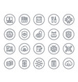 communication technology and it line icons set vector image vector image