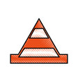 cone construction isolated icon vector image vector image