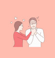 couple quarrelling relationship conflict angry vector image