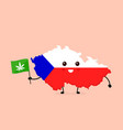 cute funny smiling happy czech vector image vector image