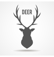 Deer head - vector image vector image