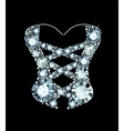 Diamond Corset vector image