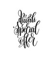 diwali special offer black calligraphy hand vector image