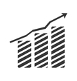 Financial growing statistics graphic vector image