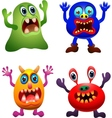 funny monster collection vector image vector image