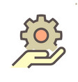 gear shape engineering concept icon design vector image