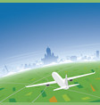 helsinki skyline flight destination vector image vector image