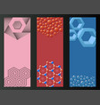 hexagon design geometric flayer elements vector image vector image