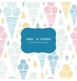 Ice cream cones textile colorful frame seamless vector image vector image