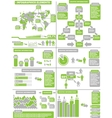 INFOGRAPHIC DEMOGRAPHICS GREEN 11 vector image vector image