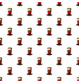 italian fan soccer hat pattern vector image vector image