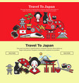 japan travel web banners of japanese sightseeings vector image vector image