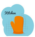 kitchen glove utensil icon vector image vector image
