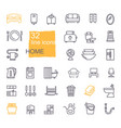 linear icons household items furniture vector image vector image