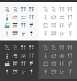 linear web icons set - cable wire computer vector image vector image