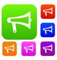 loudspeaker set color collection vector image vector image