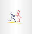 man proposing woman icon vector image