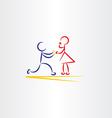 man proposing woman icon vector image vector image