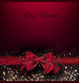 merry christmas greeting re vector image vector image