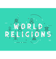 Modern concepts religious people confession man vector image