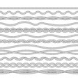 nautical ropes monochrome outline vector image vector image