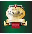 Ornate labels Malibu vector image vector image