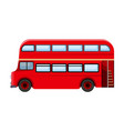 passenger bus single icon in cartoon style for vector image vector image